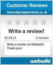 Reviews of sunnydaysupplements.co.uk